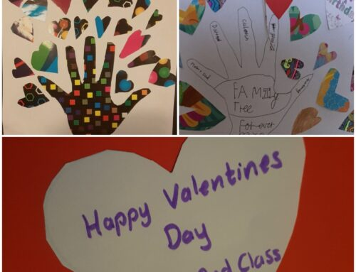Check out the 2nd Class Valentine Trees